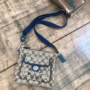 Authentic Canvas coach messenger purse